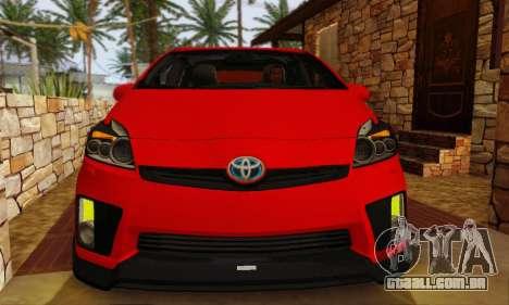 Toyota Prius Tunable para GTA San Andreas vista traseira