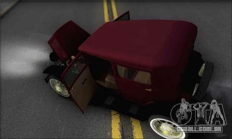 Ford A 1930 para GTA San Andreas vista superior