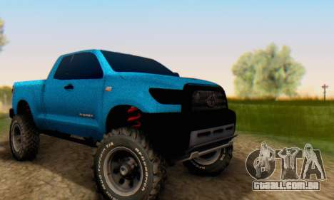 Toyota Tundra OFF Road Tuning Blue Star para GTA San Andreas vista traseira