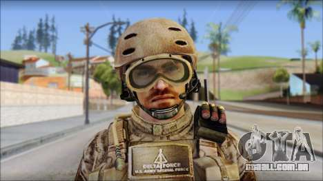 Desert SFOD from Soldier Front 2 para GTA San Andreas terceira tela