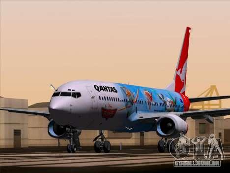 Boeing 737-800 Qantas para GTA San Andreas traseira esquerda vista