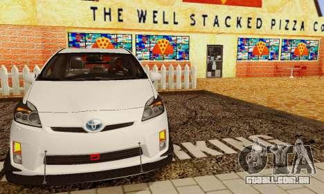 Toyota Prius Tunable para GTA San Andreas vista inferior