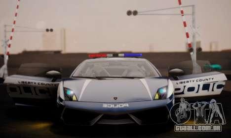 Lamborghini Gallardo LP 570-4 2011 Police v2 para GTA San Andreas vista inferior