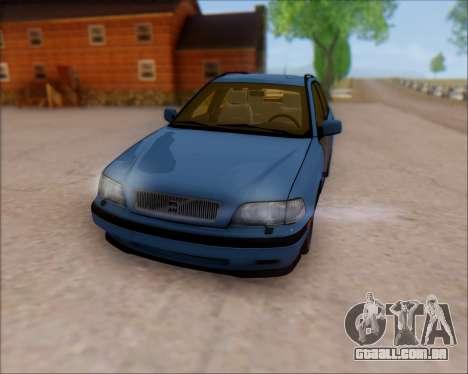 Volvo V40 para GTA San Andreas vista traseira