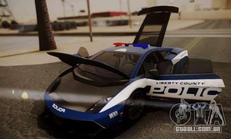 Lamborghini Gallardo LP 570-4 2011 Police v2 para as rodas de GTA San Andreas