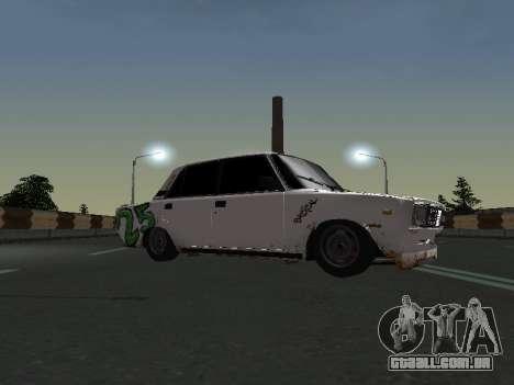 VAZ 2107 Vagabundo para GTA San Andreas traseira esquerda vista