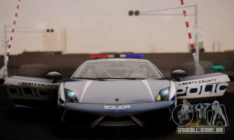 Lamborghini Gallardo LP 570-4 2011 Police v2 para vista lateral GTA San Andreas