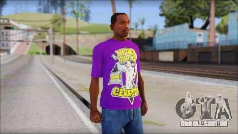 John Cena Purple T-Shirt para GTA San Andreas
