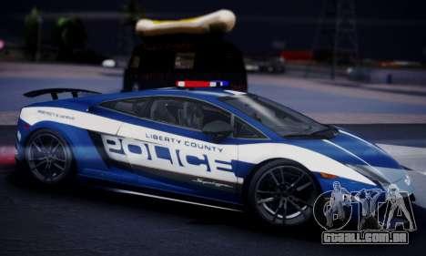 Lamborghini Gallardo LP 570-4 2011 Police v2 para GTA San Andreas vista direita