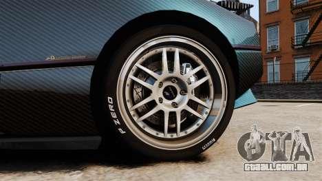 Pagani Zonda C12S Roadster 2001 v1.1 PJ3 para GTA 4 vista de volta
