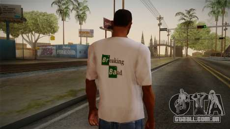 Breaking Bad Shirt para GTA San Andreas segunda tela