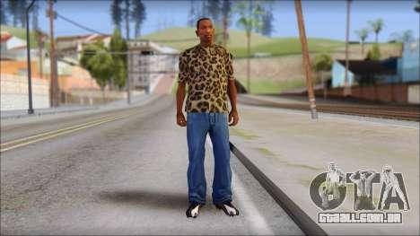 Tiger Skin T-Shirt Mod para GTA San Andreas terceira tela