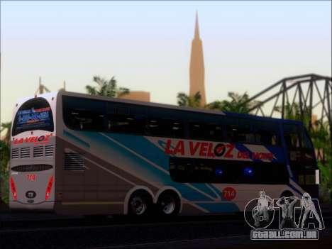 Metalsur Starbus DP 1 6x2 - La Veloz del Norte para GTA San Andreas vista interior