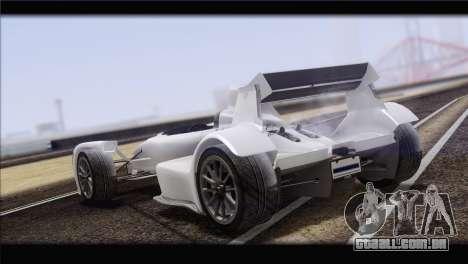 Caparo T1 2012 para GTA San Andreas vista traseira