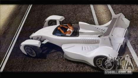 Caparo T1 2012 para GTA San Andreas esquerda vista