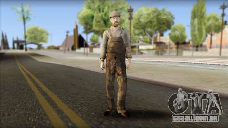 Male Civilian Worker para GTA San Andreas