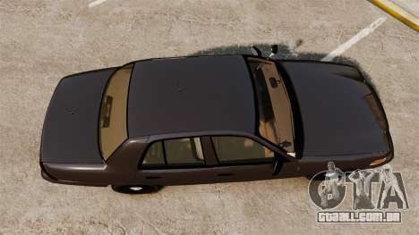 Ford Crown Victoria Sheriff [ELS] Unmarked para GTA 4 vista direita