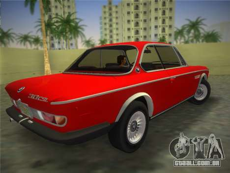 BMW 3.0 CSL 1971 para GTA Vice City deixou vista