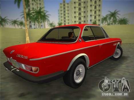 BMW 3.0 CSL 1971 para GTA Vice City deixou vista