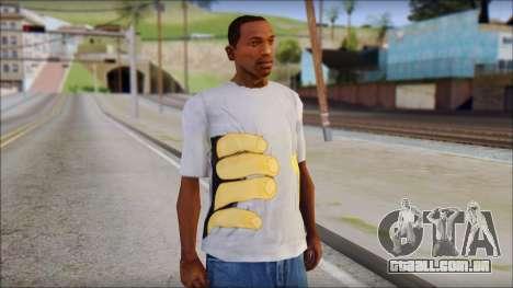 T-Shirt Hands para GTA San Andreas