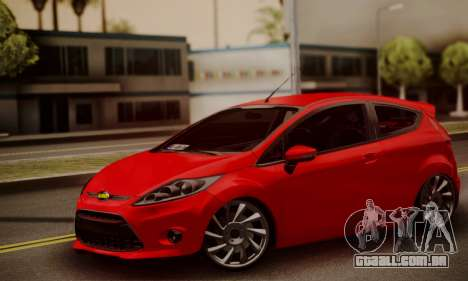 Ford Fiesta Turkey Drift Edition para GTA San Andreas traseira esquerda vista