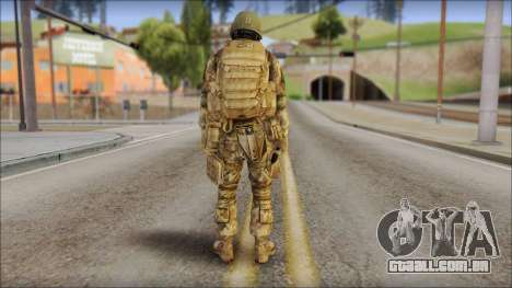 Desert GROM from Soldier Front 2 para GTA San Andreas segunda tela