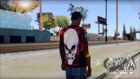 Skull T-Shirt para GTA San Andreas segunda tela