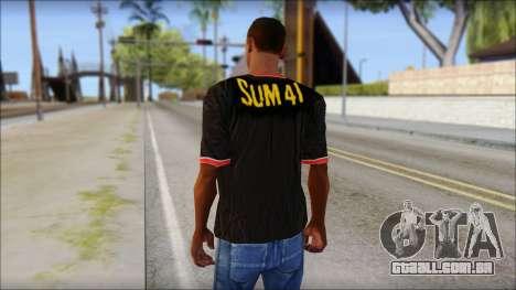 Sum 41 T-Shirt para GTA San Andreas segunda tela