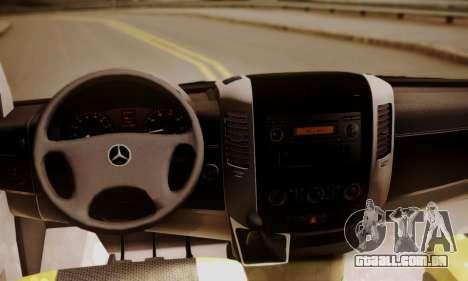 Mercedes-Benz Sprinter 315 CDi para GTA San Andreas vista traseira