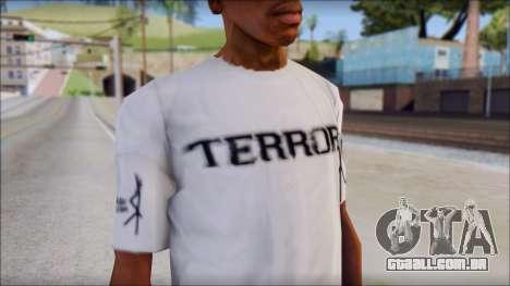 Terror T-Shirt Hardcore para GTA San Andreas terceira tela