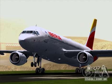 Airbus A320-214 Iberia para GTA San Andreas vista interior