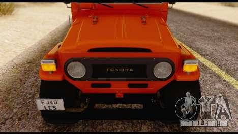 Toyota Land Cruiser (FJ40) 1978 para GTA San Andreas vista traseira