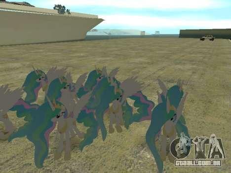 Princess Celestia para GTA San Andreas quinto tela