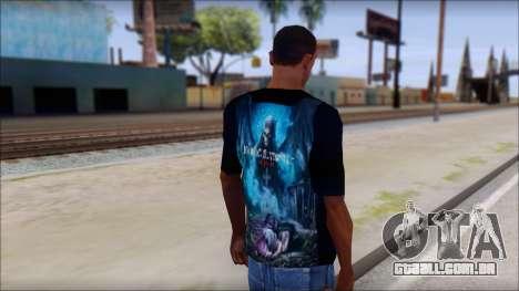 Avenged Sevenfold Nightmare Fan T-Shirt para GTA San Andreas segunda tela