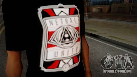 Netral T-Shirt para GTA San Andreas terceira tela