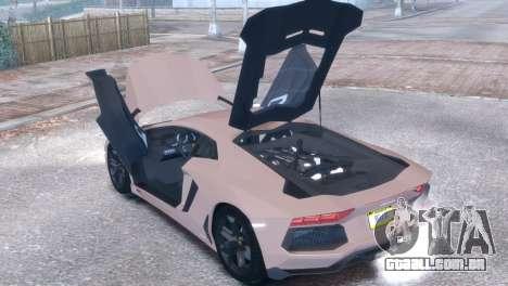 Lamborghini Aventador LP700-4 para GTA 4 vista de volta