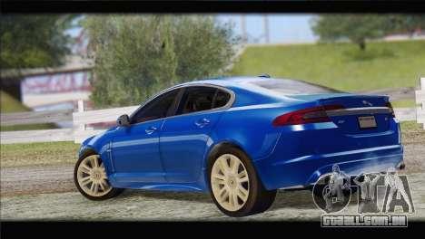 Jaguar XFR v1.0 2011 para GTA San Andreas esquerda vista