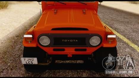 Toyota Land Cruiser (FJ40) 1978 para GTA San Andreas vista interior