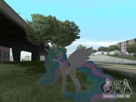 Princess Celestia para GTA San Andreas sétima tela