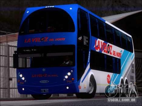 Metalsur Starbus DP 1 6x2 - La Veloz del Norte para GTA San Andreas esquerda vista