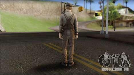 Male Civilian Worker para GTA San Andreas segunda tela
