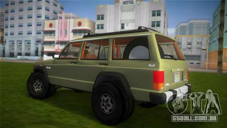 Jeep Cherokee v1.0 BETA para GTA Vice City deixou vista