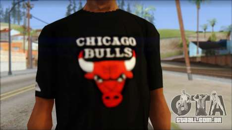 Chicago Bulls Black T-Shirt para GTA San Andreas terceira tela