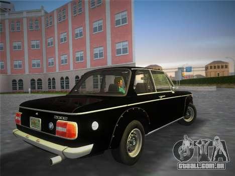 BMW 2002 Tii (E10) 1973 para GTA Vice City deixou vista
