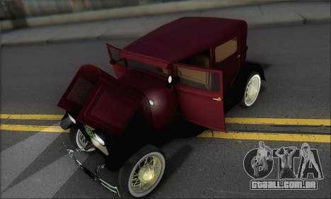 Ford A 1930 para vista lateral GTA San Andreas