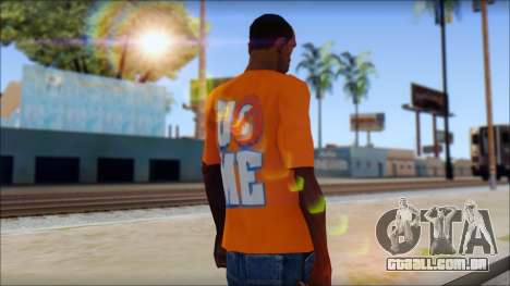 John Cena Orange T-Shirt para GTA San Andreas segunda tela