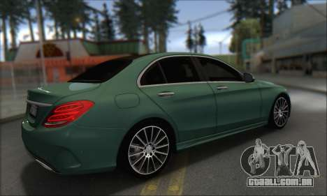 Mercedes-Benz C250 V1.0 2014 para GTA San Andreas vista traseira