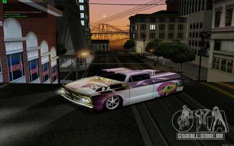 O trabalho da pintura para Slamvan MLP Fluttersh para GTA San Andreas traseira esquerda vista