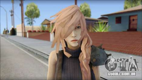 Final Fantasy XIII - Lightning Lowpoly para GTA San Andreas terceira tela