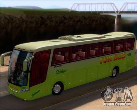 Busscar Vissta LO Scania K310 - Tur Bus para GTA San Andreas vista interior